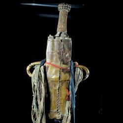 Couteau Glaive et son etui en cuir - Bamileke - Cameroun