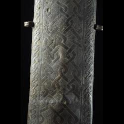 Epée Cérémonielle Bronze et Ivoire Eben - Royaume de Bénin - Nigéria