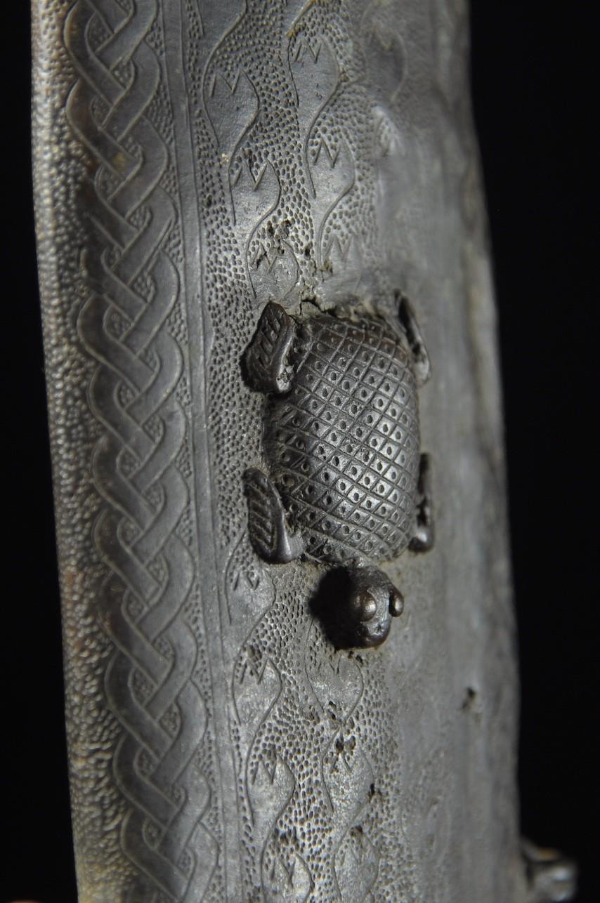 Epée Cérémonielle Bronze - Royaume de Bénin - Nigéria