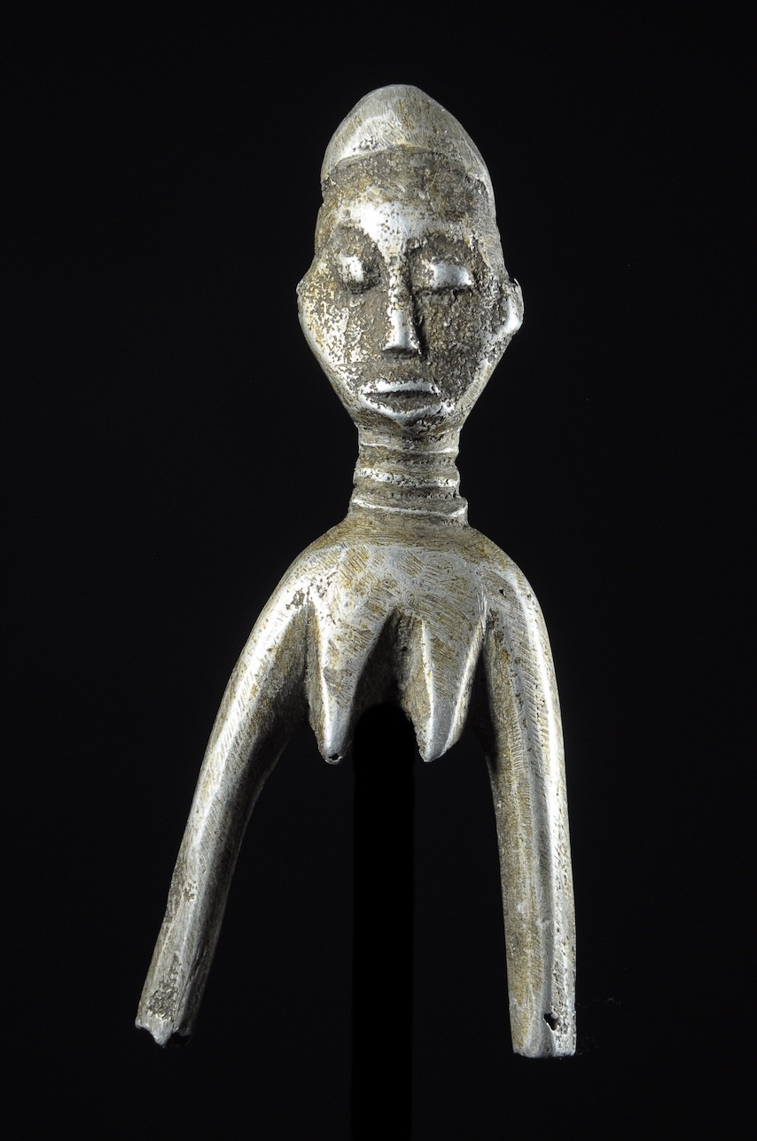 Fetiche Bateba Lance Pierre Aluminium - Ethnie Lobi - Burkina