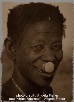 Labret en aluminium - Lip Plug - Turkana - Kenya
