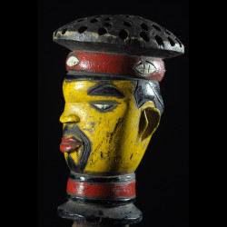 Tete Kebe Kebe Marionette Chef Traditionnel - Kuyu - RDC Zaire
