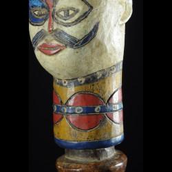 Tete Kebe Kebe Marionette Initiatique - Kuyu - RDC Zaire