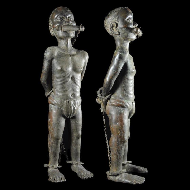 Esclave Royal - Royaume de Bénin XVIII ème - Nigeria - BIni Edo - Bronze cire perdue