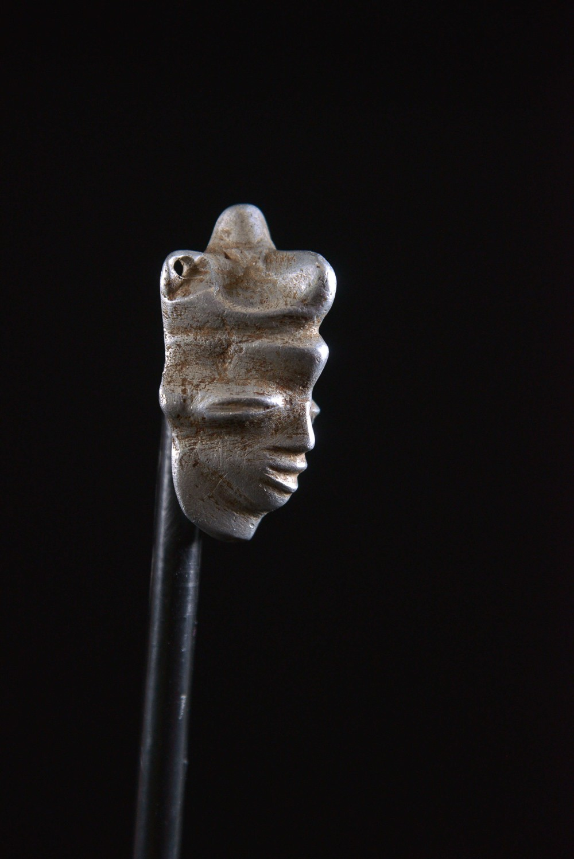 Amulette Ikhoko en aluminium - Pende - RDC Zaire