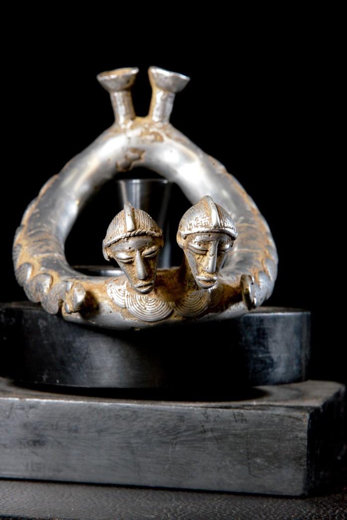 Chevillere homme ou femme en aluminium - Senoufo - Côte d'Ivoire