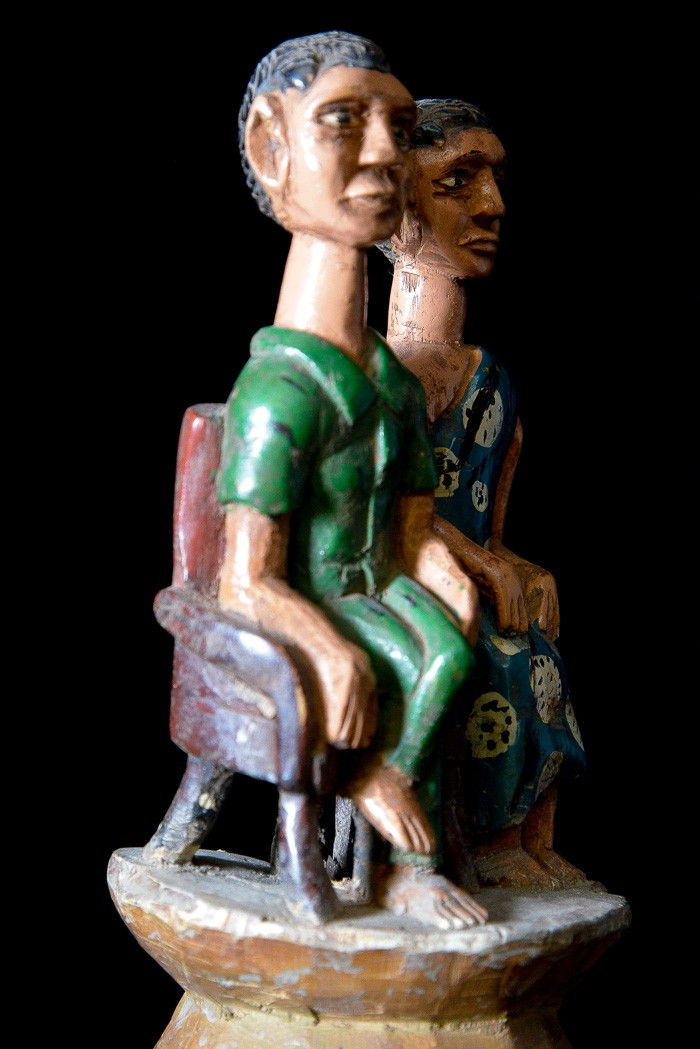 Statue Colon Couple royal - Photo Africaine - Ashanti - Côte d'Ivoire