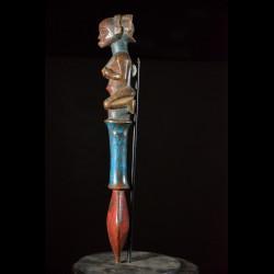Sceptre de dignitaire polychrome - Hemba - RDC Zaire - Objets de regalia