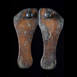 Claquettes en bois - Lega - RDC Zaire