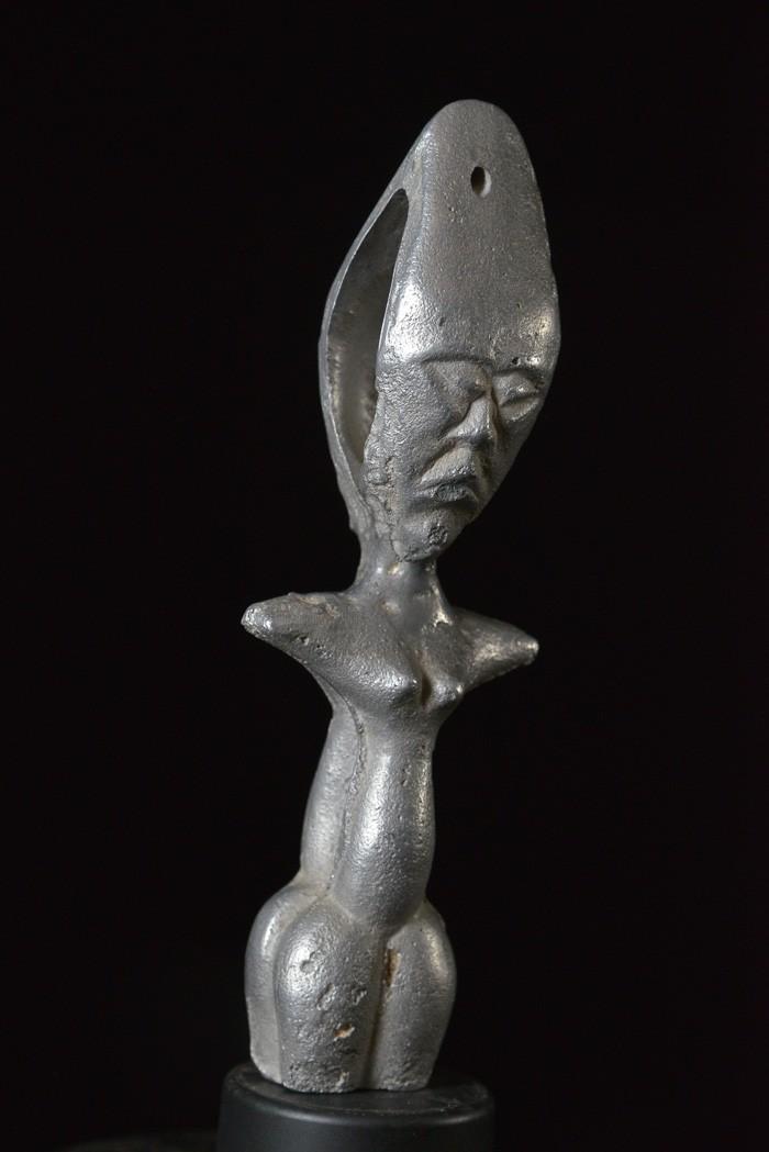 Poupée de fertilité en aluminium - Fanti - Ghana - Poupees Africaines