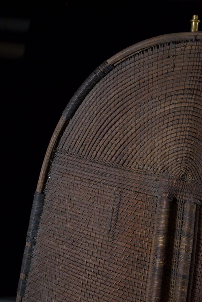 Bouclier en vannerie - Mongo - RDC Zaire