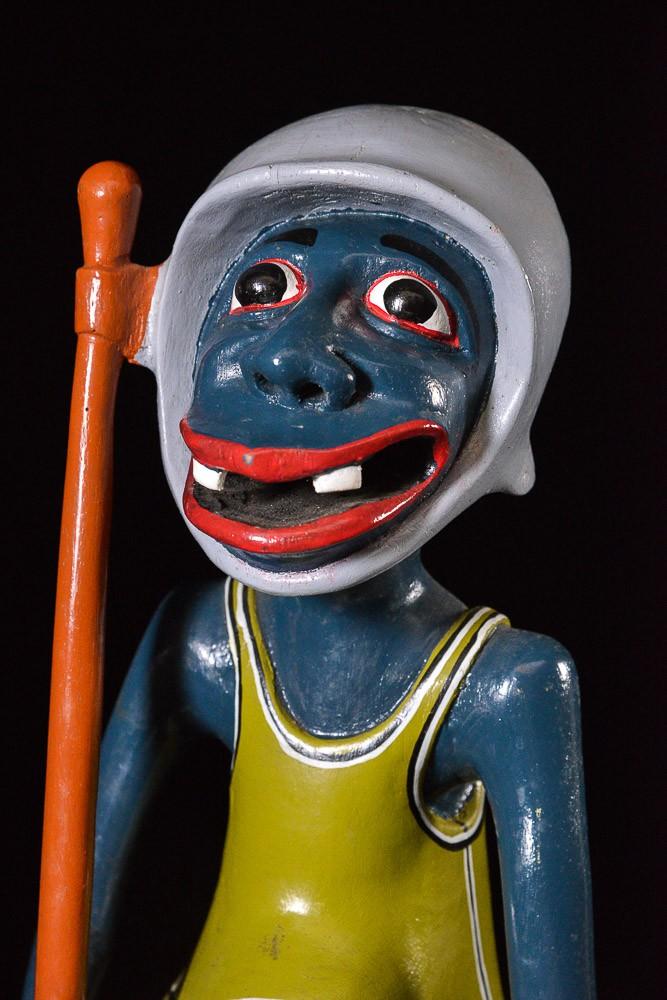 Sculpture Shetani Homme Et Animal - Agostino Malaba - Makonde