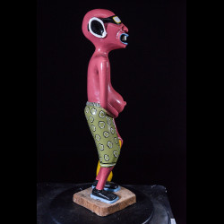 Sculpture Shetani Homme Aux Lunettes - Agostino Malaba - Makonde