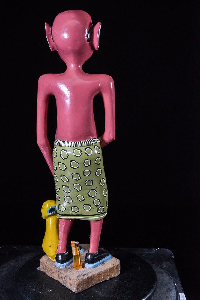 Sculpture Shetani Homme Aux Lunettes - George Lilanga - Makonde