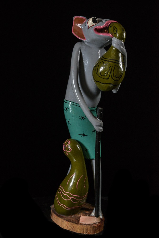 Sculpture Shetani Rongeur Anthropomorphique - Agostino Malaba - Makonde