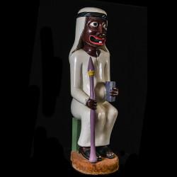 Sculpture Shetani Homme Sage - Agostino Malaba - Makonde