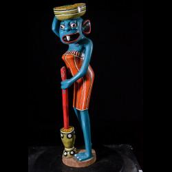 Sculpture Shetani Femme Agriculteur - Agostino Malaba - Makonde