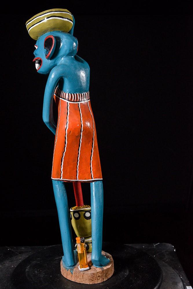 Sculpture Shetani Femme Agriculteur - George Lilanga - Makonde