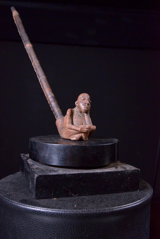 Pipe en bois et terre cuite - Kapsiki - Bamoun / Cameroun