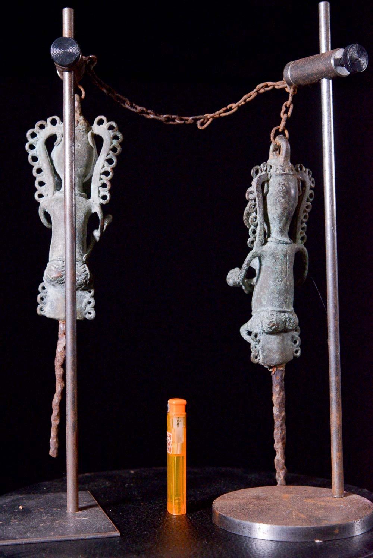 Statuettes Edan en paire de la societe Ogboni - Yoruba Nigeria - Bronzes