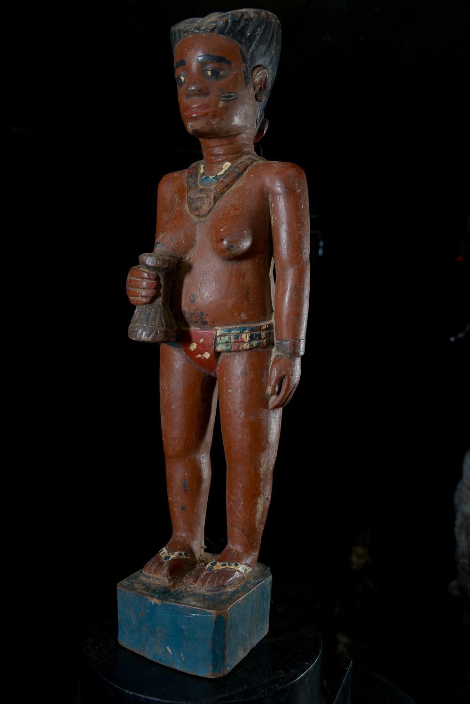 Statue Colon Guérisseuse - Photo Africaine - Baoule - Côte d'Ivoire