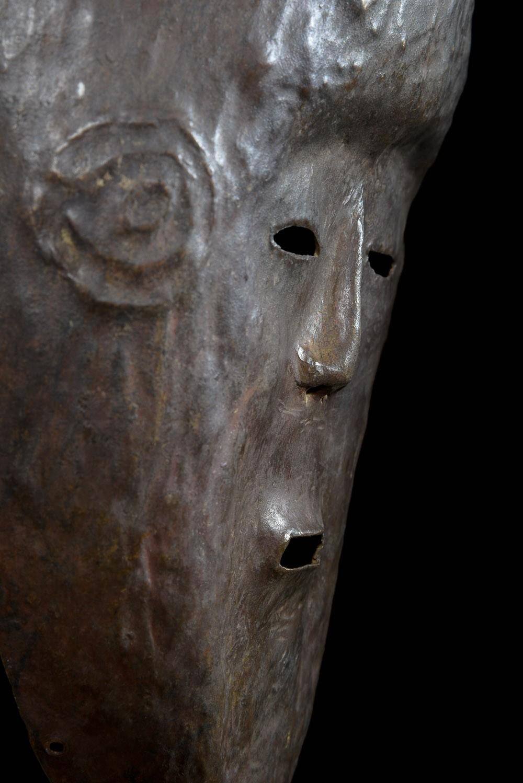 Masque en cuivre ngongo munene - Ding Tukongo - RDC Zaire