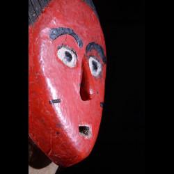 Masque Seli totem rouge - Gouro - Côte d'Ivoire
