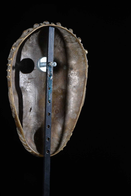 Masque en alliage de métal - Guéré - Côte d'Ivoire