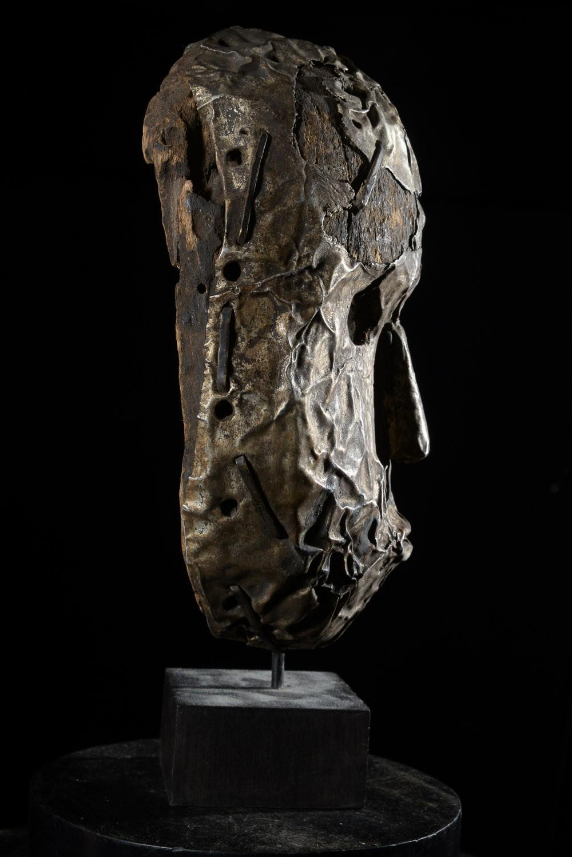 Masque en métal ngongo munene - Ding Tukongo - RDC Zaire
