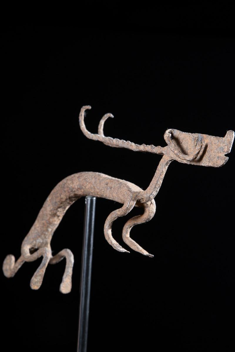 Gazelle Ti Wara en fer noir forgé - Bambara / Bamana - Mali