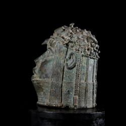 Tete Oba Bronze Ife - Bini Edo - Benin - Bronzes Africains
