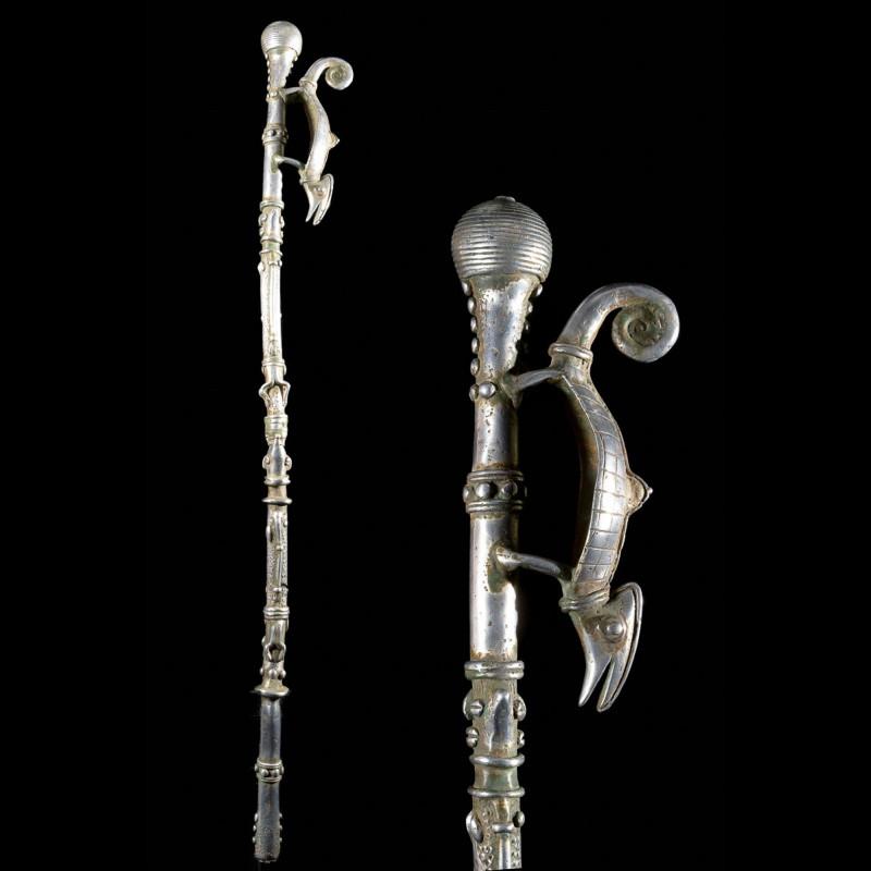 Canne de dignitaire en fonte aluminium - Lobi - Benin - Objets de regalia
