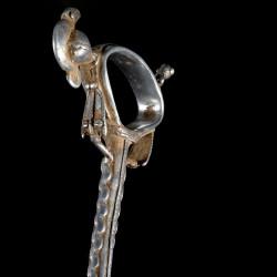 Socle pour canne luxe en acier massif - Taille XS - 15 mm