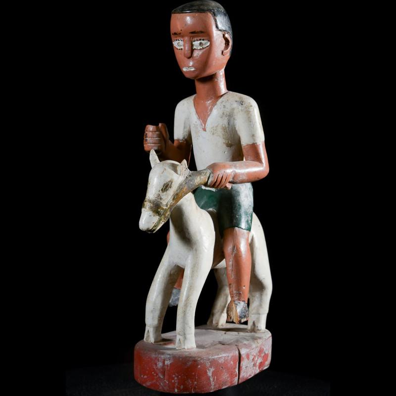Cavalier et son cheval Colon - Baoule - Côte d'Ivoire
