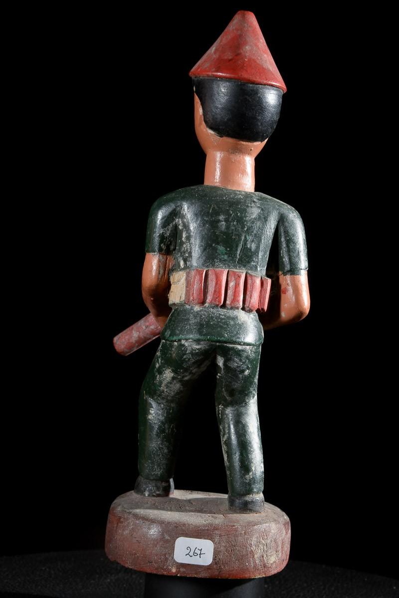 Statue Colon Militaire - Photo Africaine - Baoule - Côte d'Ivoire