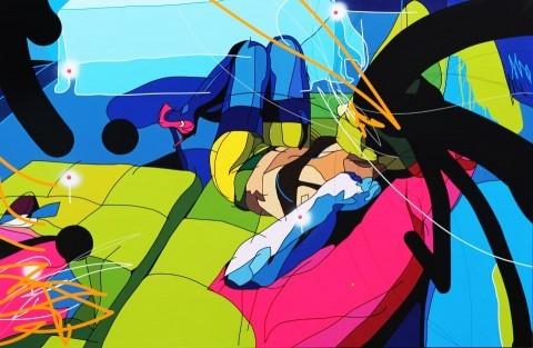 Peinture sur Toile 195 x 130 - Sofa Andalou - Cedrix Crespel - 2012