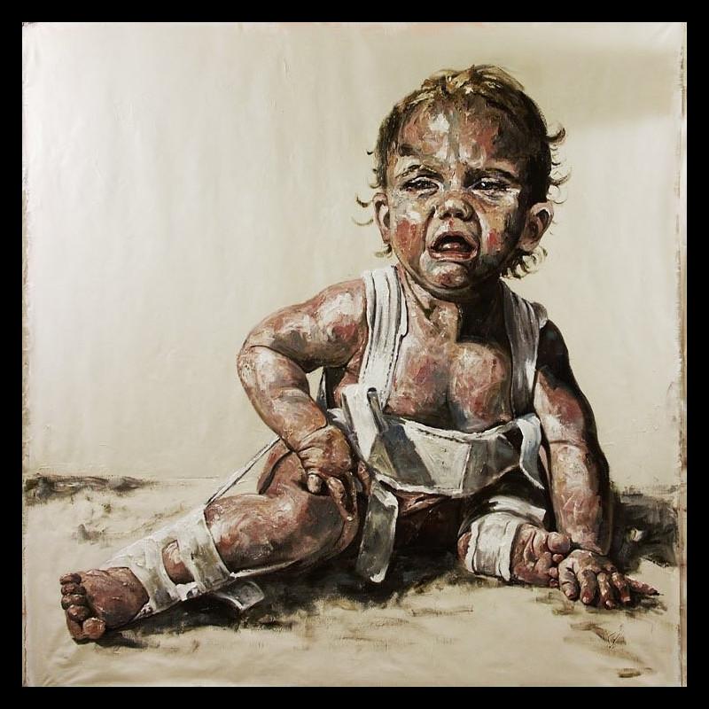 Huile sur toile 200 x 200 - Mahault - Thierry Dussac