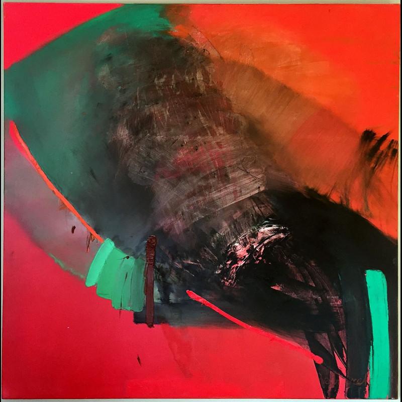 Huile sur toile 120 x 120 - Sans Titre - Dorotha Bednarek