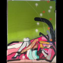Huile sur toile - Greenwall - Cedrix Crespel - 2014