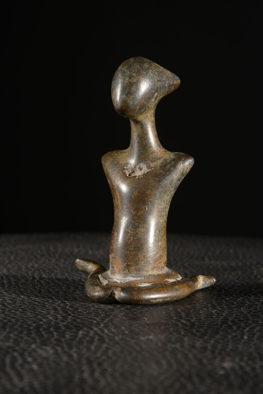 Statuette Genie anthropomorphe en bronze - Sénoufo - Côte d'ivoire