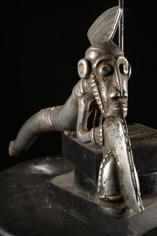 Zandé massue en fonte d'aluminium - Mossi - Burkina Faso - Objets de regalia