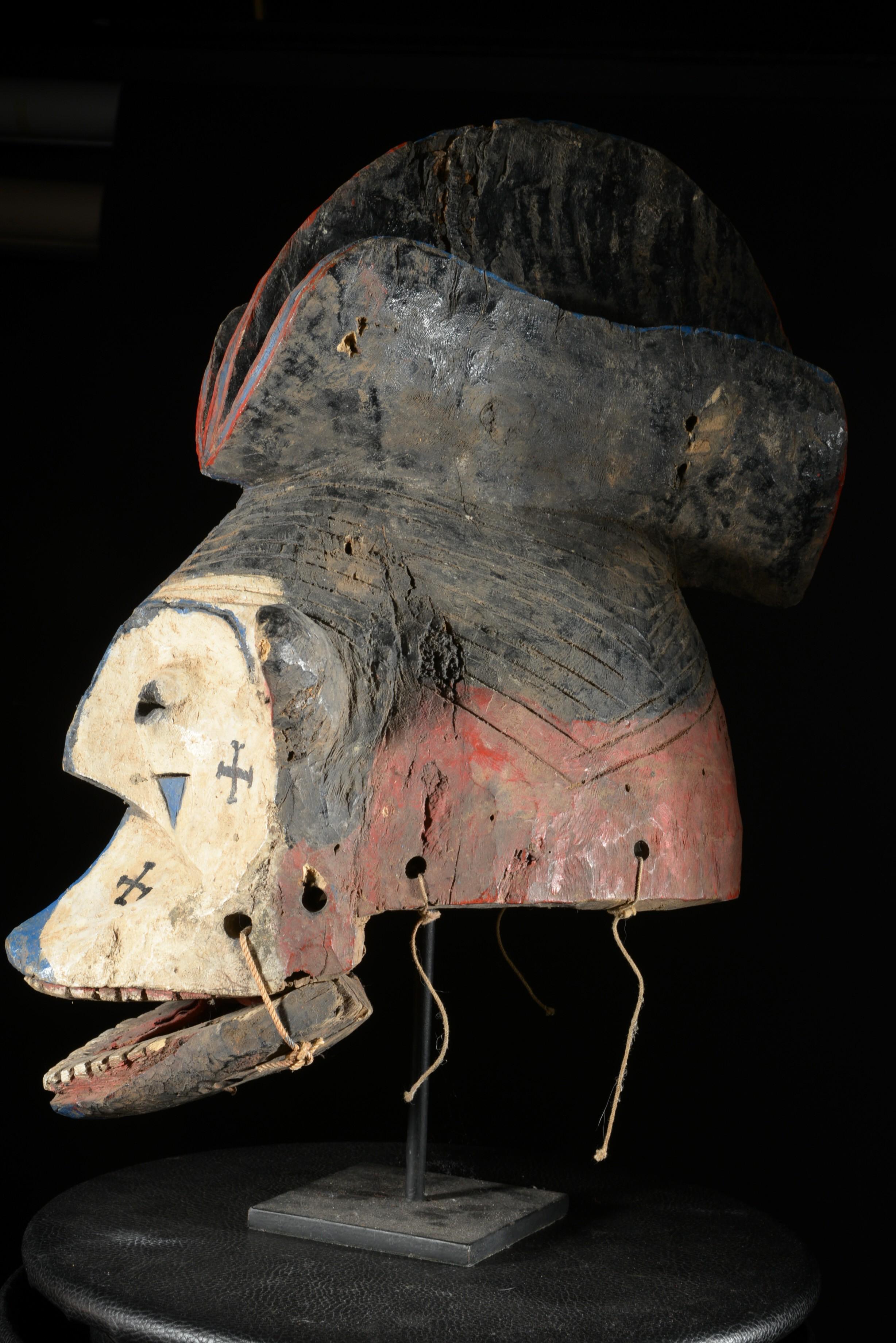 Masque Casque Egu Orumamu - Igala - Nigéria