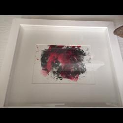 Tableau technique mixte Autoportrait - Philippe Pasqua 2010