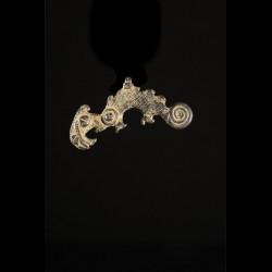 Figurine cameleon bronze -...