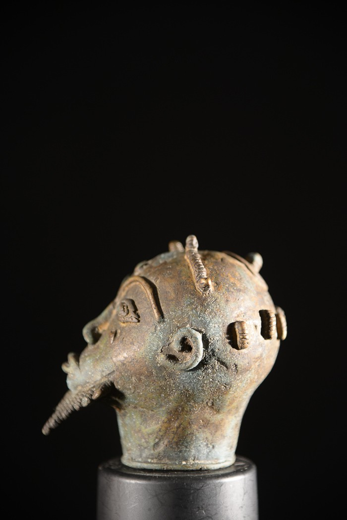 Masquette laiton - Baoule - Côte d'Ivoire