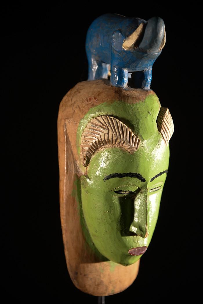 Masque de case à bec - Dan / Mahou - Côte d'Ivoire