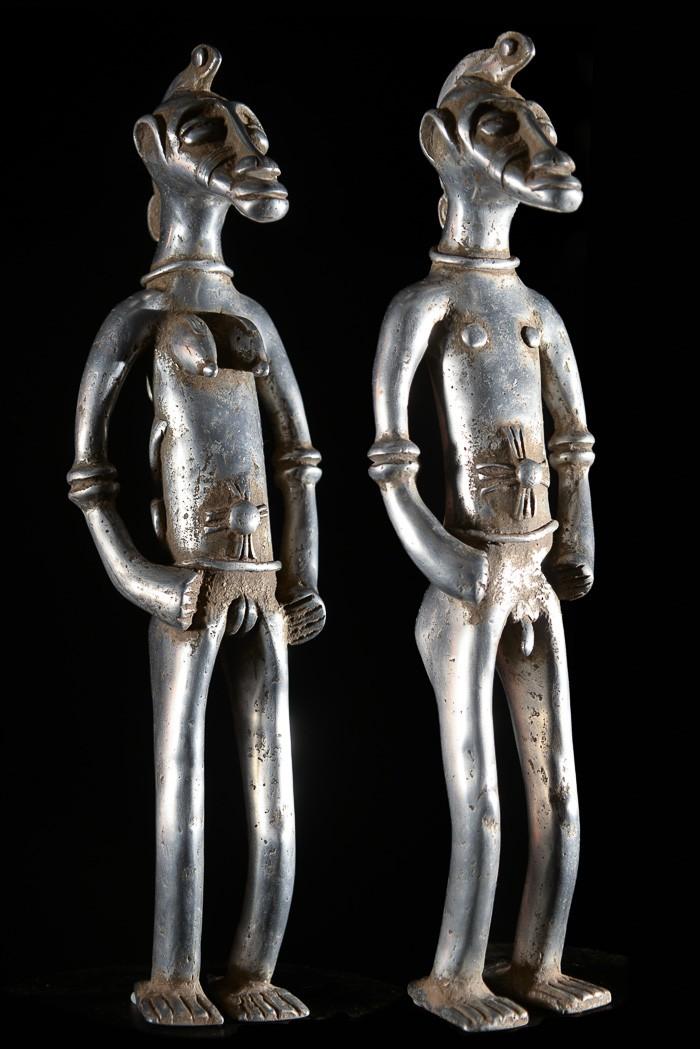 Couple fétiche Senoufo en aluminium - Senoufo - Côte d'ivoire