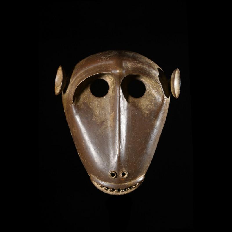 Masque Singe Kpan en Bronze - Baoule - Côte d'Ivoire