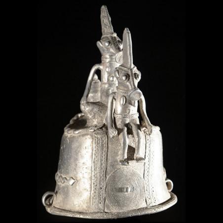 Masque d'autel en aluminium - Bwa - Burkina Faso