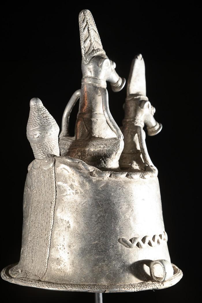Masque d'autel en aluminium - Gan - Burkina Faso
